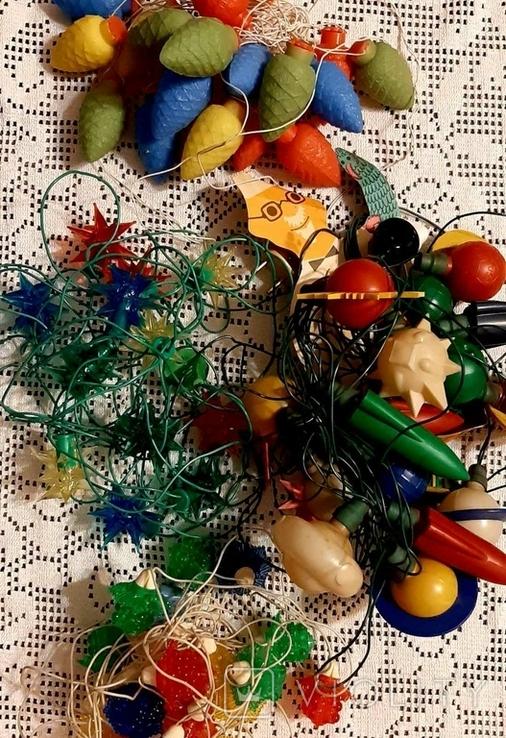 Новогодние гирлянды времен СССР, лот, фото №2