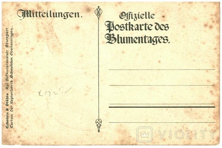Открытка королевской пары Вюртемберга Германия 1911 год, фото №3