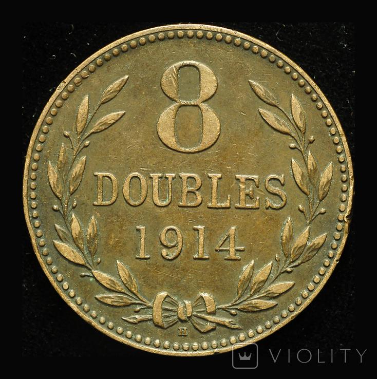 Гернси 8 даблов 1914, фото №2