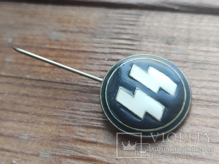 Знак СС , качественная копия ,эмаль, клейма, 3 рейх, фото №2
