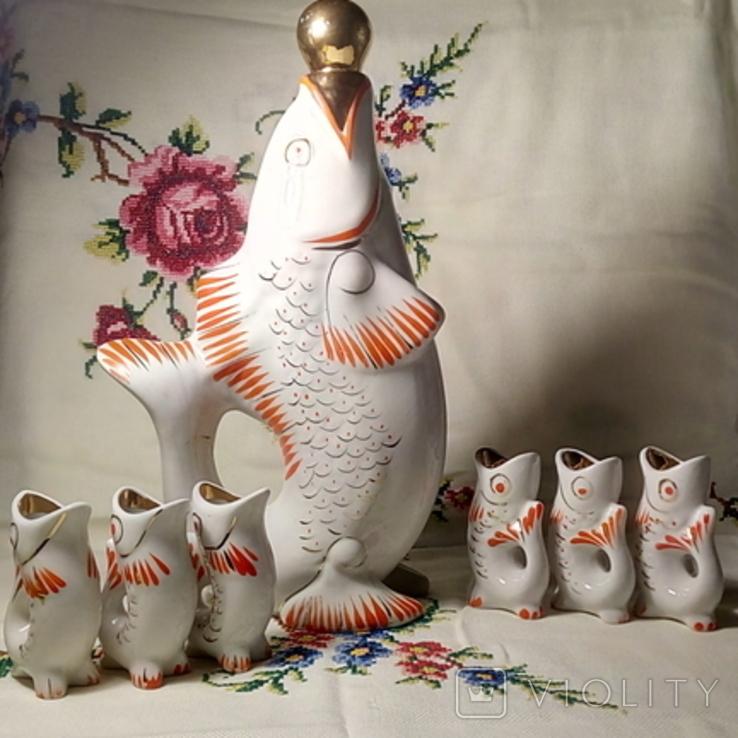 """Фарфоровый сервиз """"Рыбки"""", фото №2"""