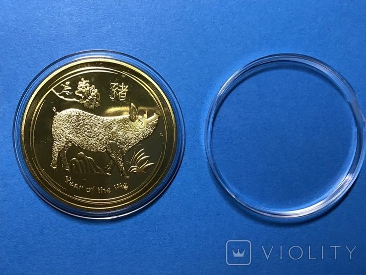 10 долларов Австралия 2019 года. Золото. Копия, фото №3