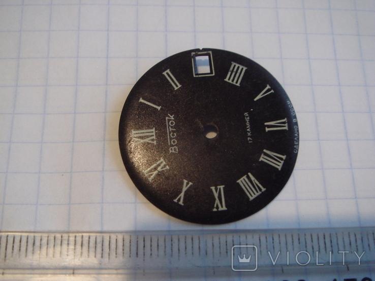 Циферблат к часам Восток 17 камней, черный, фото №3