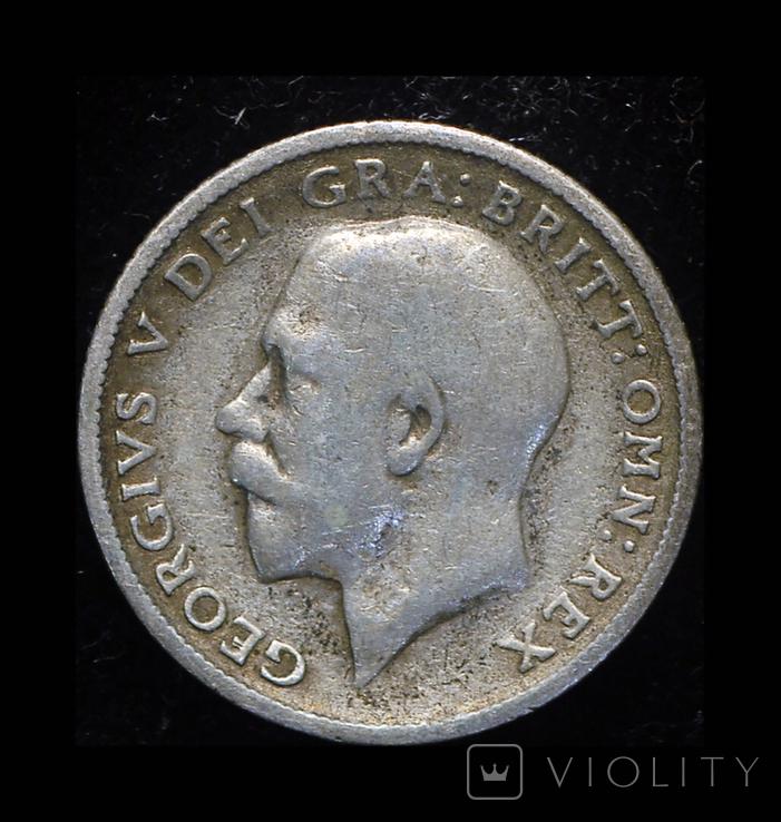 Великобритания 6 пенсов 1924 серебро, фото №2