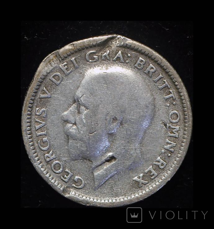Великобритания 6 пенсов 1927 серебро, фото №3