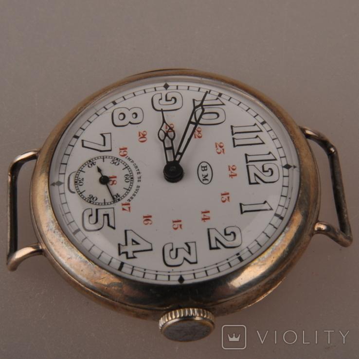 """Часы швейцарской фирмы Omega с маркировкой Baume & Mercier (""""B.M."""" в овале)., фото №3"""