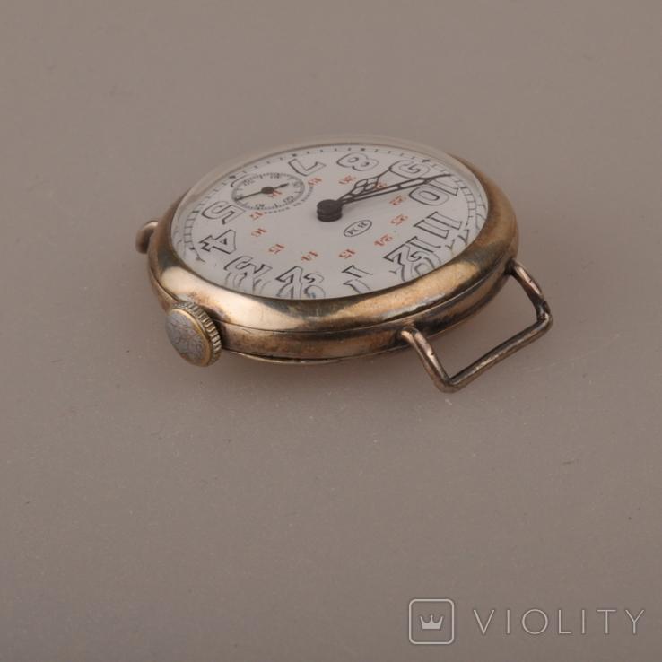 """Часы швейцарской фирмы Omega с маркировкой Baume & Mercier (""""B.M."""" в овале)., фото №4"""
