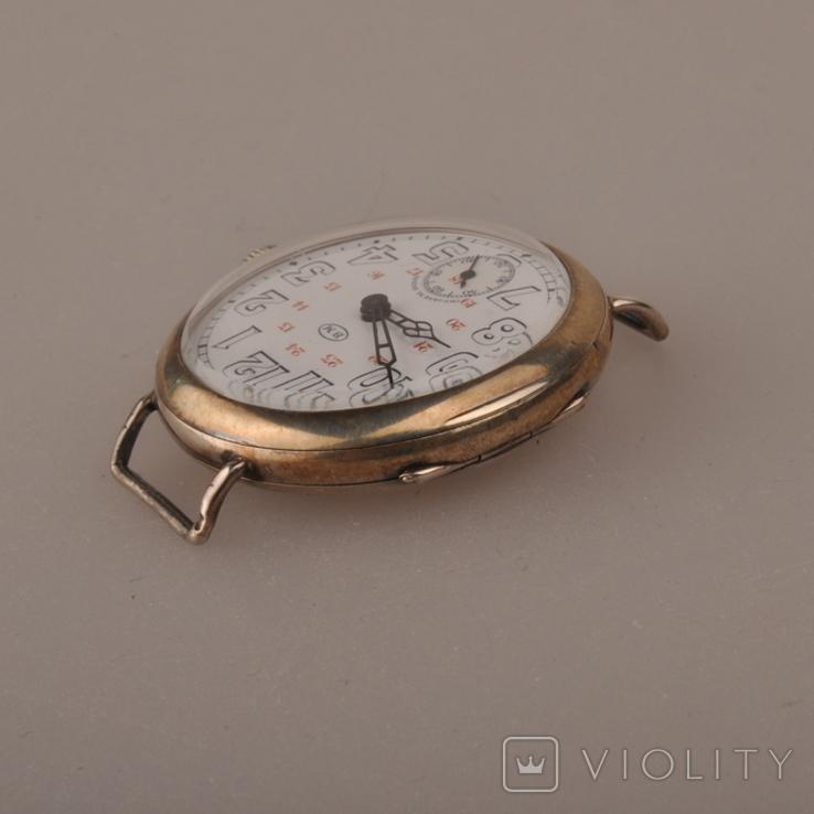 """Часы швейцарской фирмы Omega с маркировкой Baume & Mercier (""""B.M."""" в овале)., фото №5"""