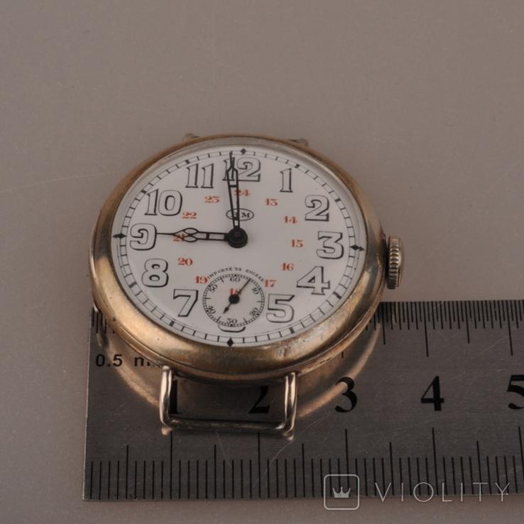 """Часы швейцарской фирмы Omega с маркировкой Baume & Mercier (""""B.M."""" в овале)., фото №8"""