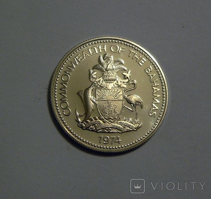 Багамские Острова, 50 центов 1974 - серебро, фото №4
