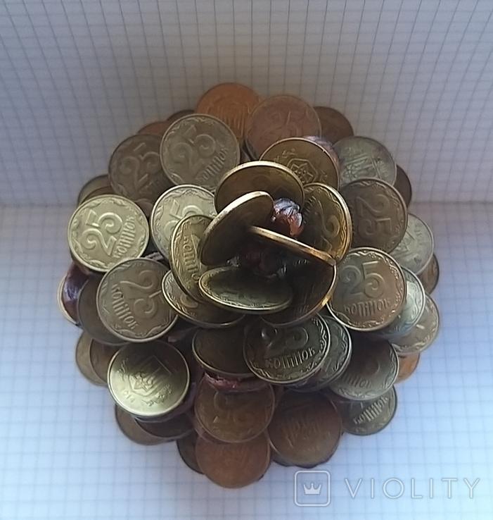 Кедровая шишка из монет, фото №7