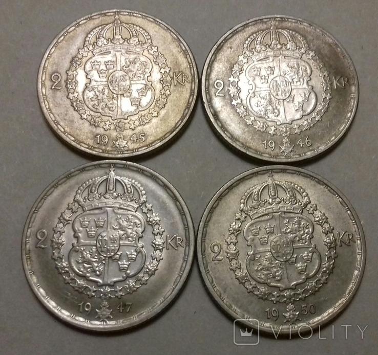 2 крони 1945, 1946, 1947, 1950 рр., фото №3