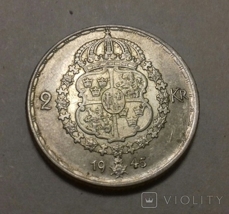 2 крони 1945 G, фото №3