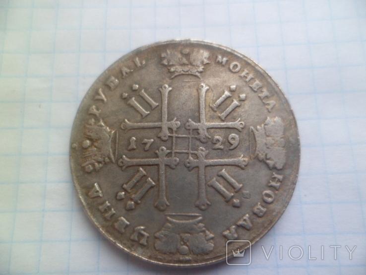 Рубль 1729  год копия, фото №4