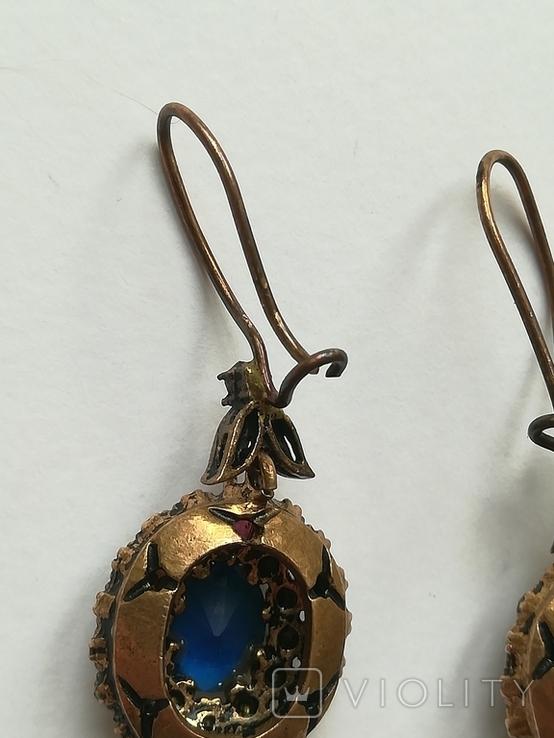 Серебрянные серьги и кулон, фото №5
