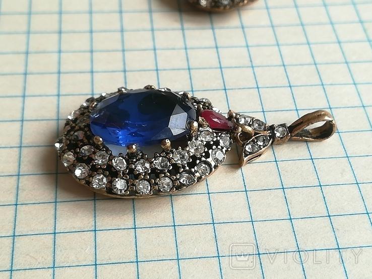 Серебрянные серьги и кулон, фото №9