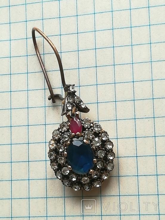 Серебрянные серьги и кулон, фото №13