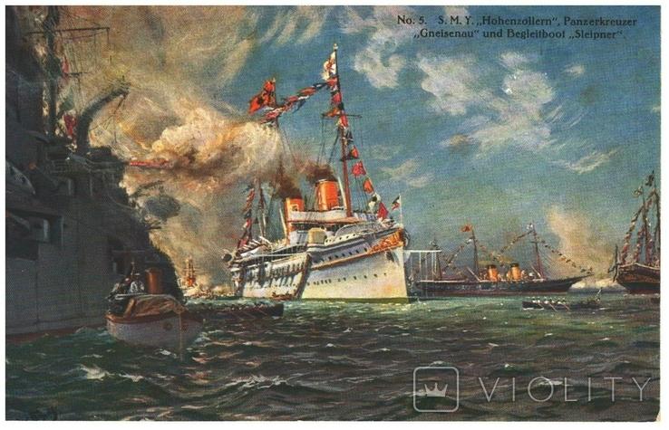 Открытка Крейсер «Гнейзенау» Первая мировая война Германия, фото №2
