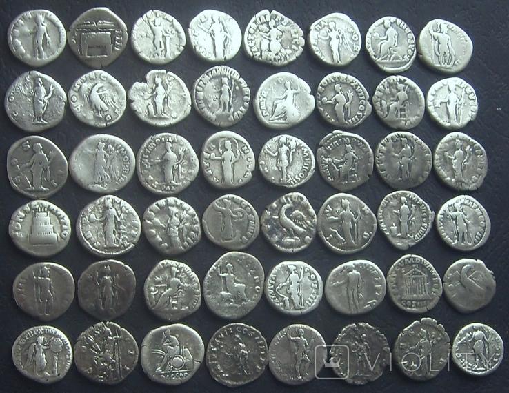 Монеты Древнего Рима (денарии) 48 штук. (2), фото №3