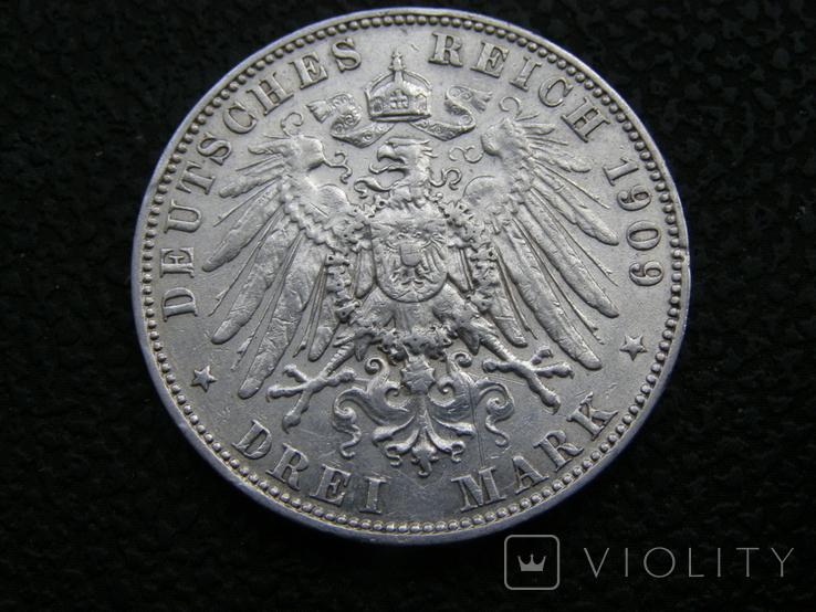 3 марки 1909 Е Саксония. Фридрих Август., фото №5