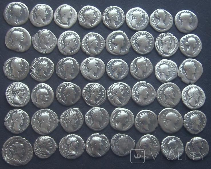 Монеты Древнего Рима (денарии) 48 штук. (3), фото №2