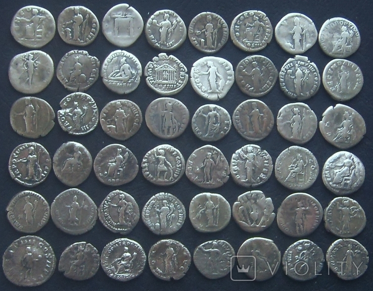 Монеты Древнего Рима (денарии) 48 штук. (3), фото №3