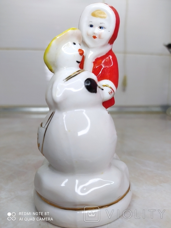 Статуэтка девочка и снеговик, фото №3