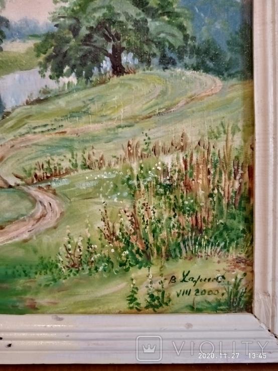 """Пейзаж """"Старые ивы"""" автор Харченко В.Т. 80*50см., фото №4"""