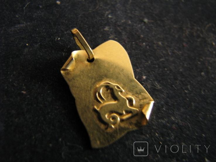 """""""Козерог"""". Золото 750 проба, фото №2"""