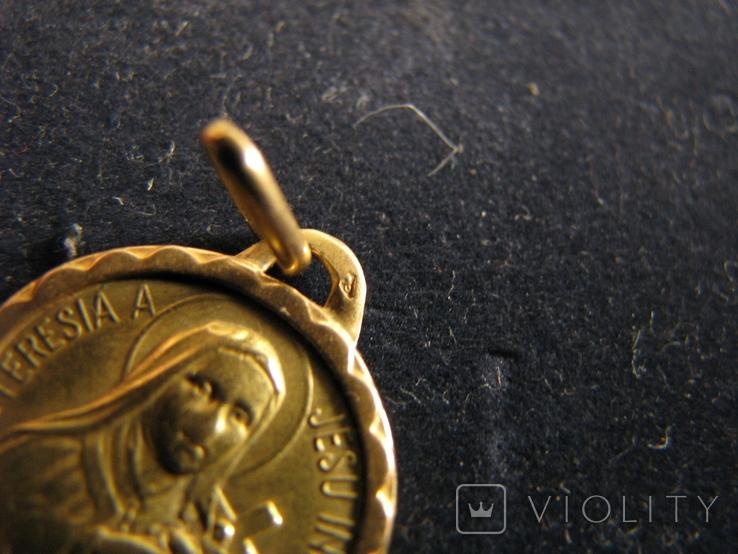 """Кулон """"Св.Терезия"""" Золото 750 ., фото №4"""