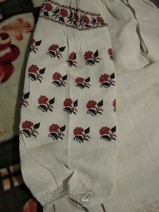 Старинная сорочка. Миргород. Вышивка крестиком. Полотно., фото №3
