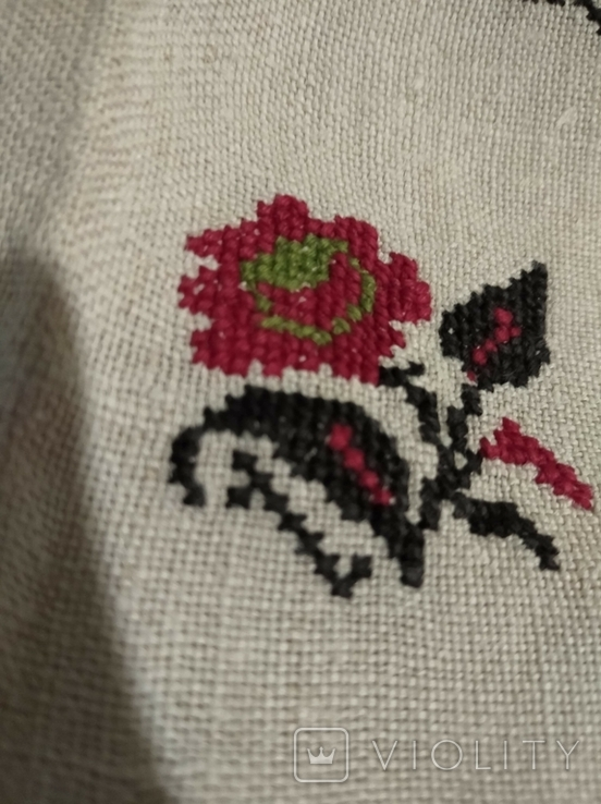 Старинная сорочка. Миргород. Вышивка крестиком. Полотно., фото №4