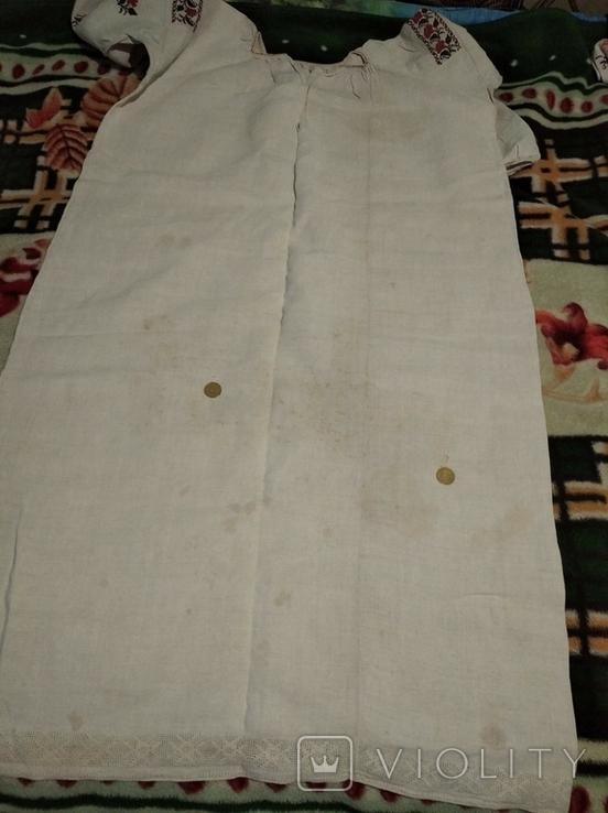 Старинная сорочка. Миргород. Вышивка крестиком. Полотно., фото №7