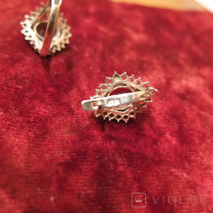Кольцо и серьги.Гранат. Серебро 925 пр. СССР., фото №7