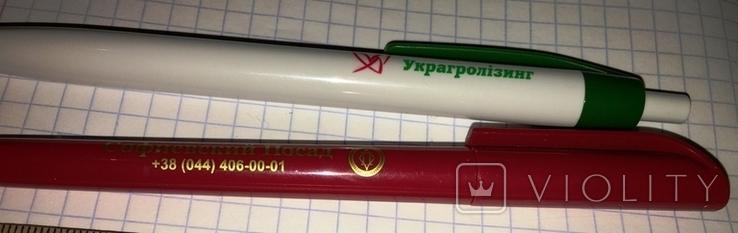 2 брендированные шариковые ручки отель Софиевский Посад, Украгролизинг, фото №5