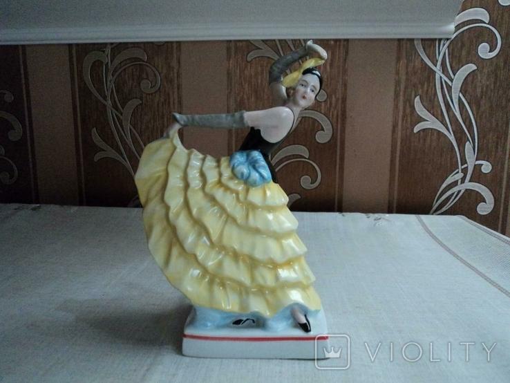 Танцовщица, Германия, арт-деко, 20,5 см, фото №5