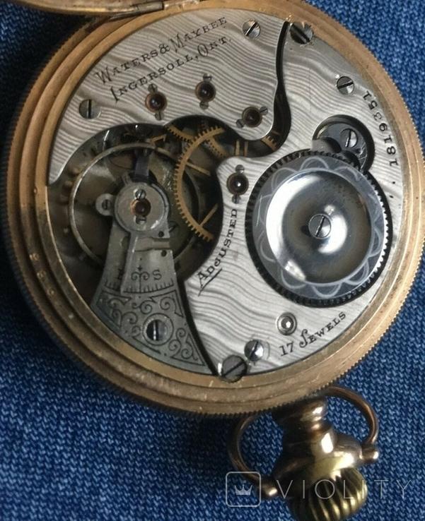 Позолочений Годинник Waters Maybee, Ingersoll, Ont. 1907 року., фото №9