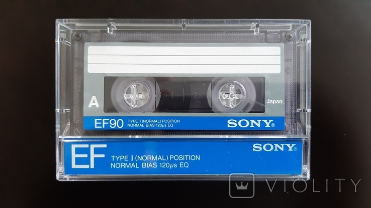 Касета Sony EF 90 (Release year 1986) 3, фото №2
