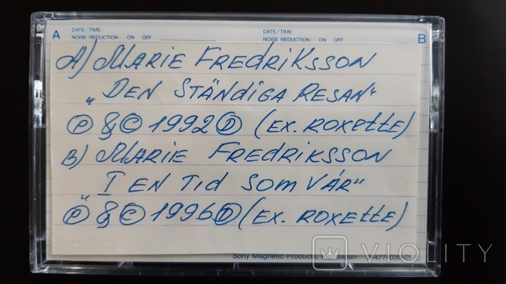 Касета Sony EF 90 (Release year 1986) 3, фото №3