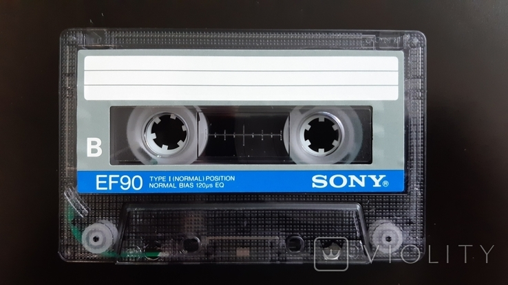 Касета Sony EF 90 (Release year 1986) 3, фото №5