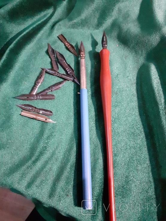 Пара перьев ручек и 10 перьев, фото №4