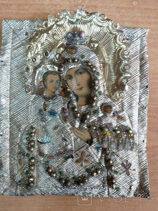Пресвятая Богородица в окладе, фото №2