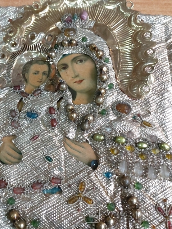 Пресвятая Богородица в окладе, фото №3