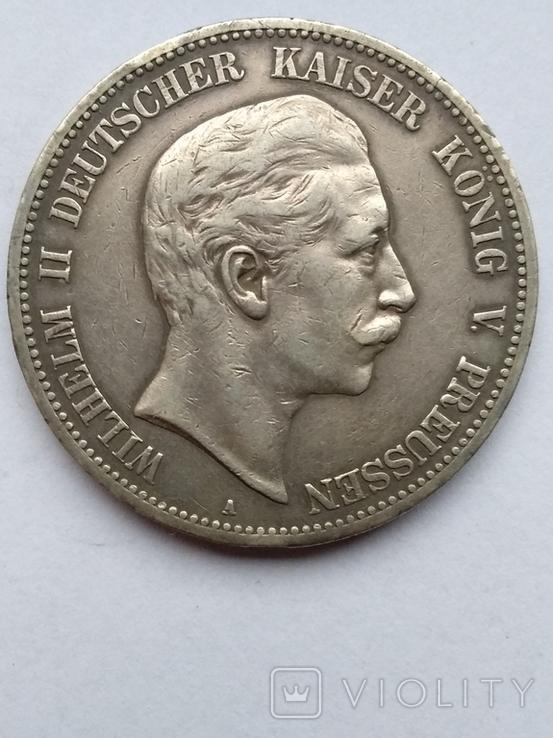 5 марок 1908 года , Пруссия, фото №2