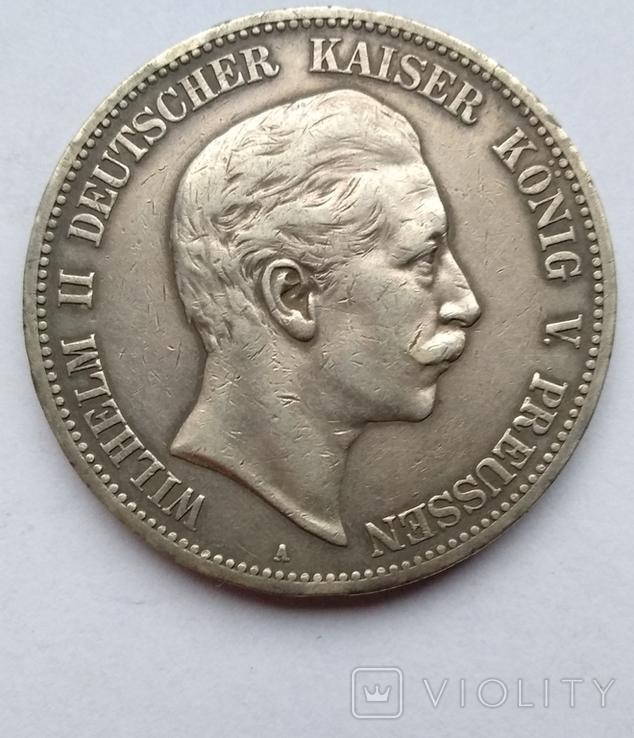 5 марок 1908 года , Пруссия, фото №3
