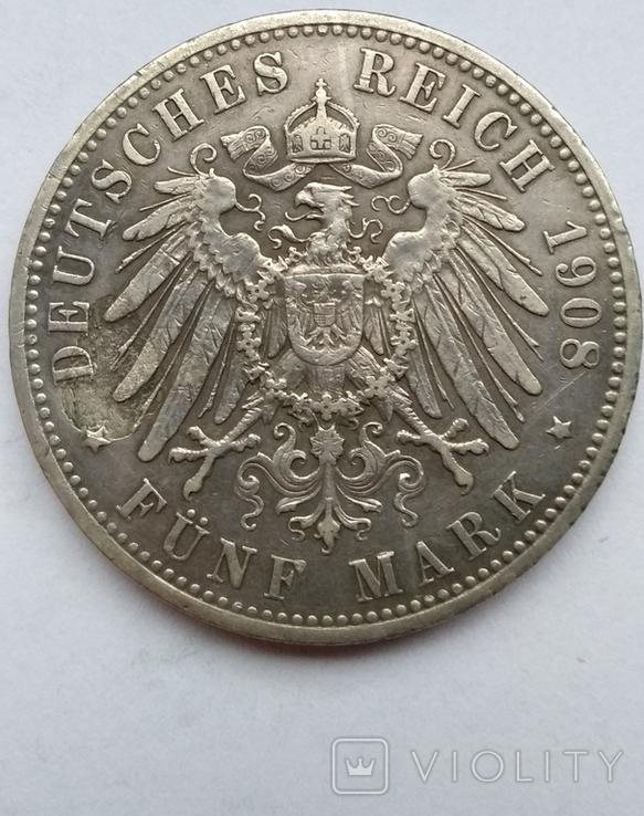 5 марок 1908 года , Пруссия, фото №8