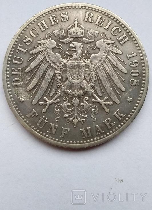 5 марок 1908 года , Пруссия, фото №9
