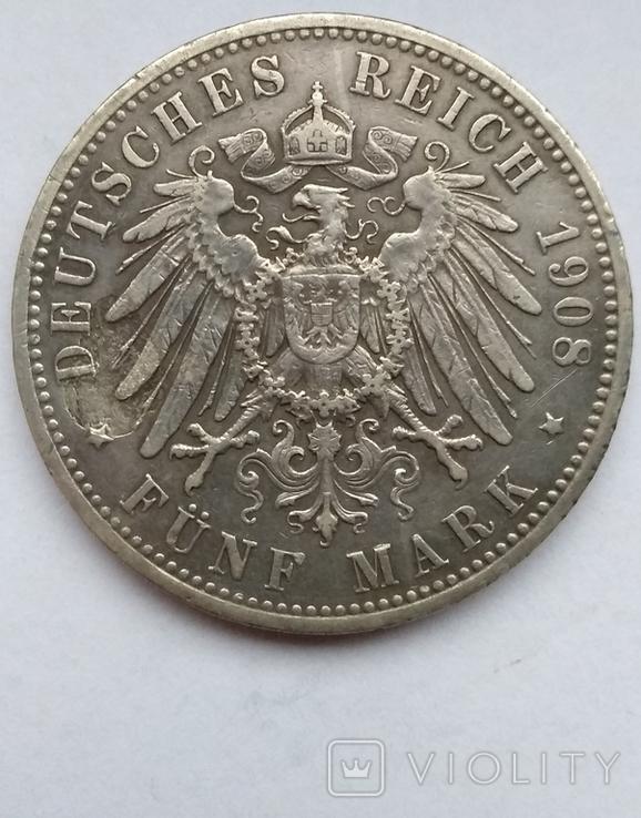 5 марок 1908 года , Пруссия, фото №10