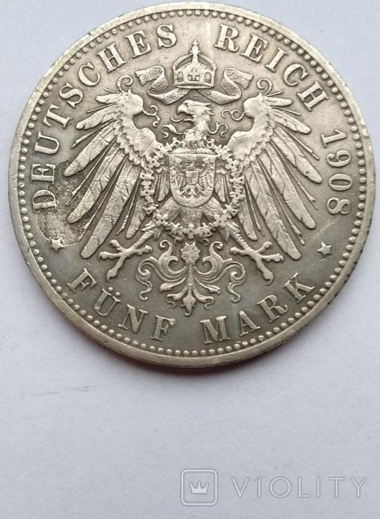 5 марок 1908 года , Пруссия, фото №11