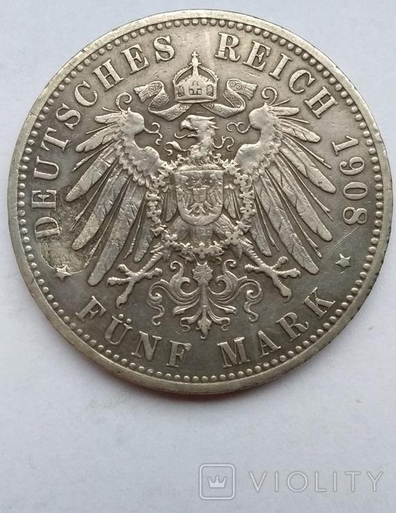 5 марок 1908 года , Пруссия, фото №12